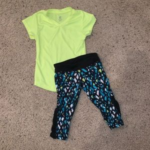 Other - Girls activewear outfit size XS 4/5